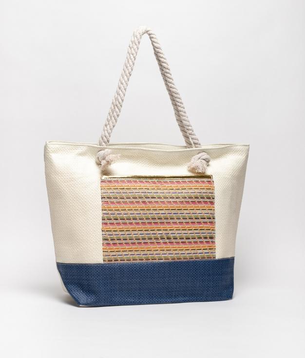 tiev beach bag - beige