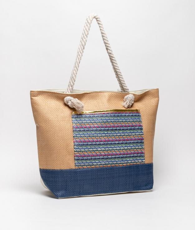 tiev beach bag - camel