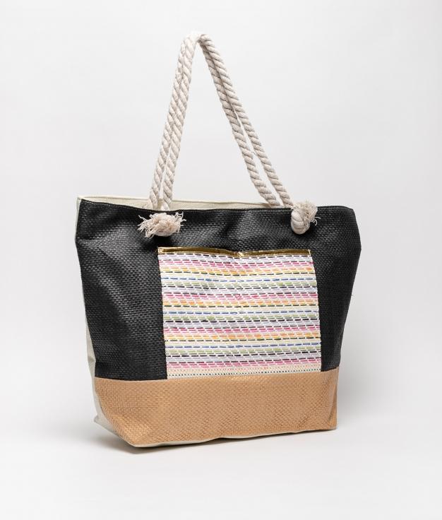 tiev beach bag - black