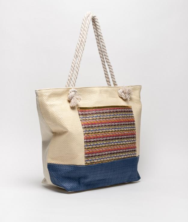 sac de plage tiev - abricot