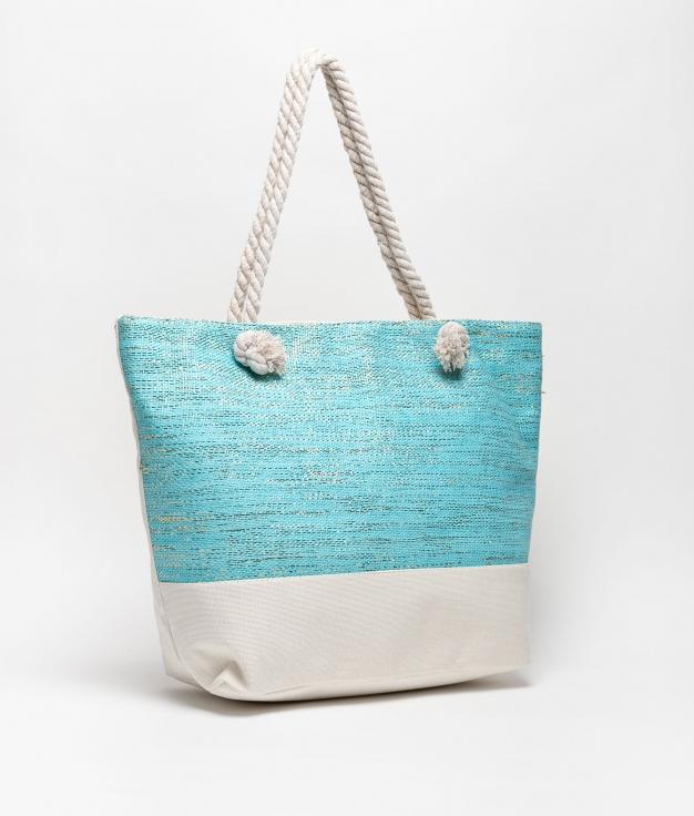 maldives beach bag - light blue