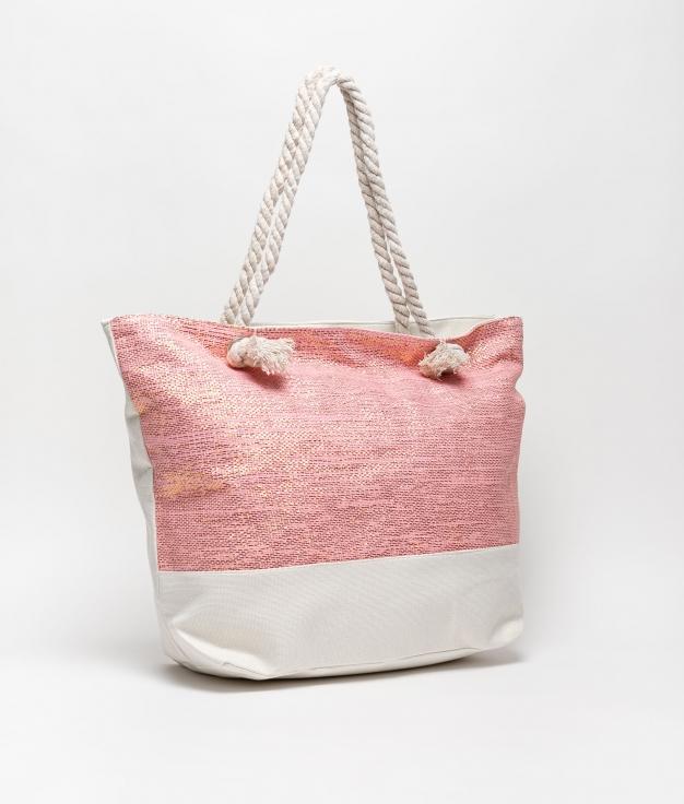sac de plage maldives - rose