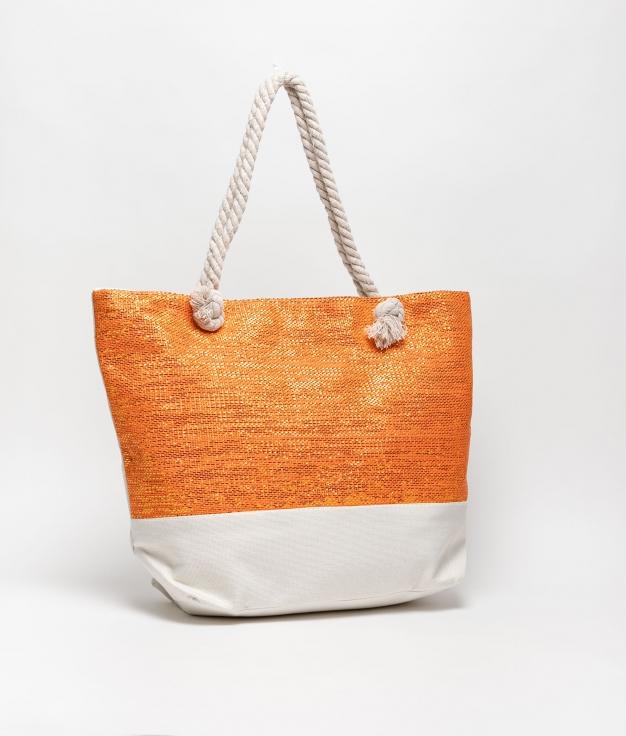 maldives beach bag - orange