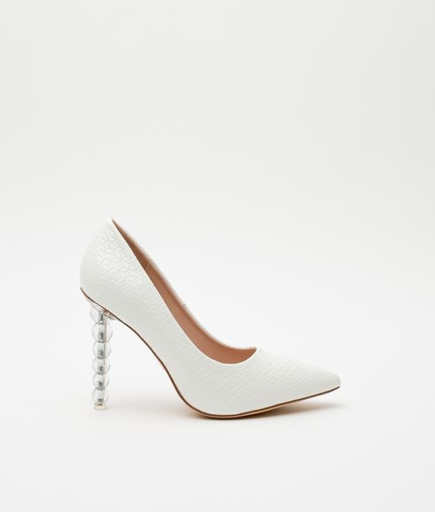Zapato de Tacón Bertrix - Blanco