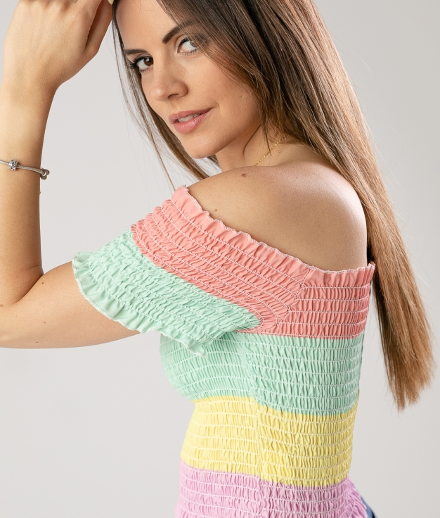 TOP TROEME - CORAL