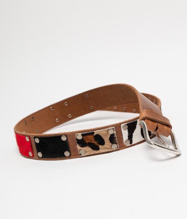 Cinturón de piel Mia - cuir