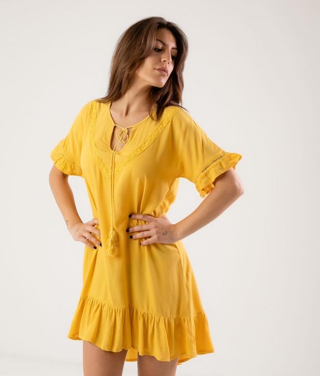 Vestido Lufy - Jaune