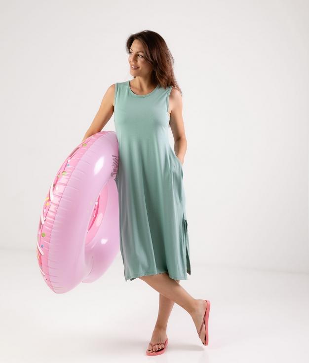 Vestido Ela - Aigue-marine
