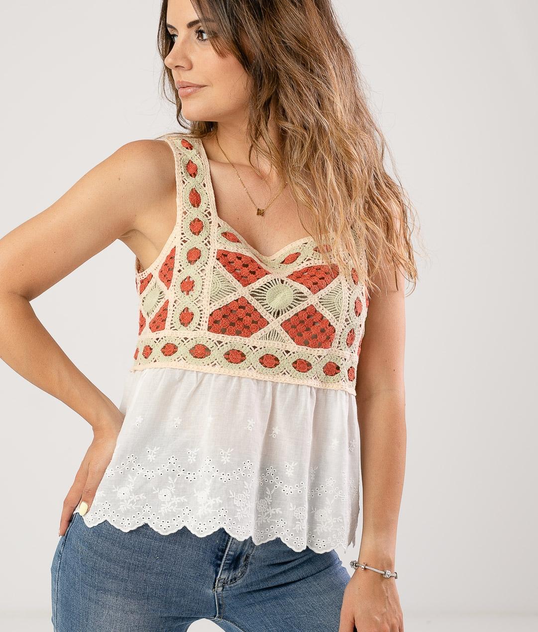 Camiseta Pentar - Coral