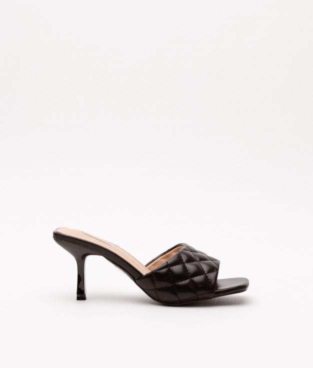Sandalia de Tacón Burgas - Negro