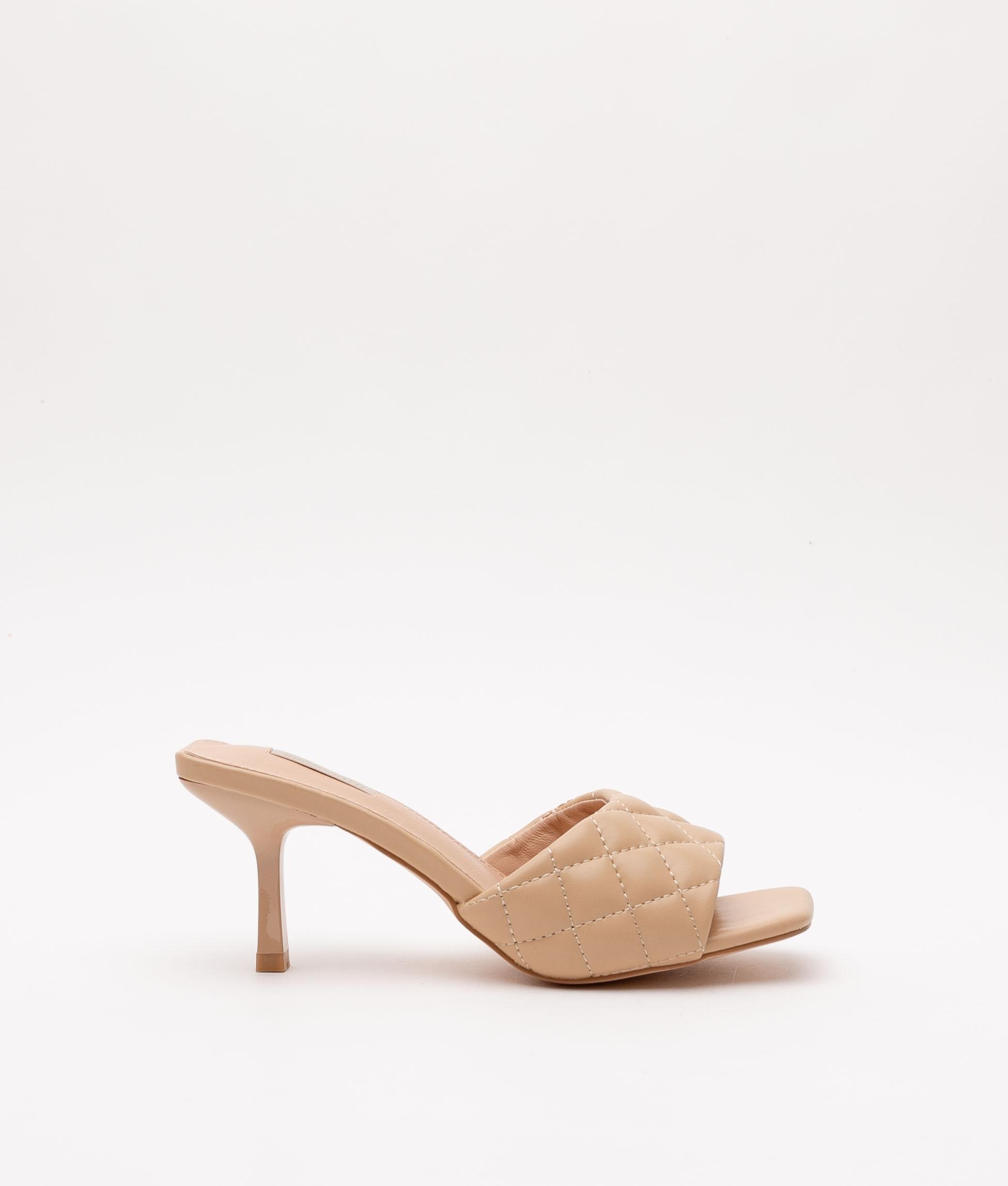 Sandalia de Tacón Burgas - Beige