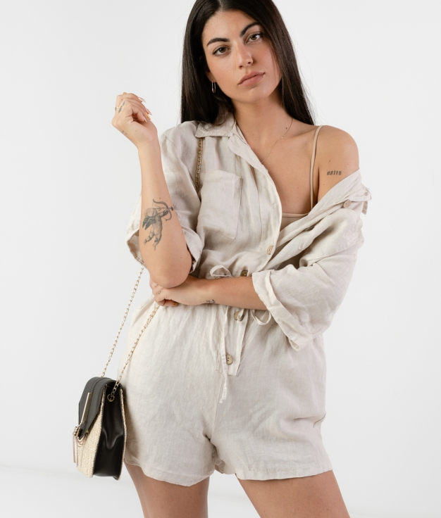DRESS JUMPSUIT COTENA - BEIGE