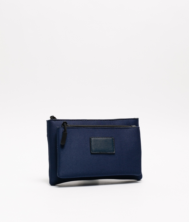 neoprene purse - navy blue