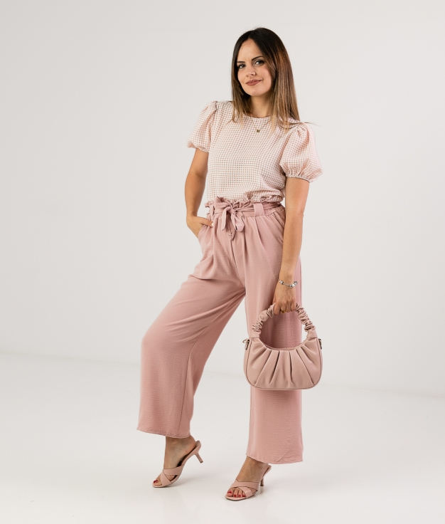 TROUSERS HOLESE - PINK
