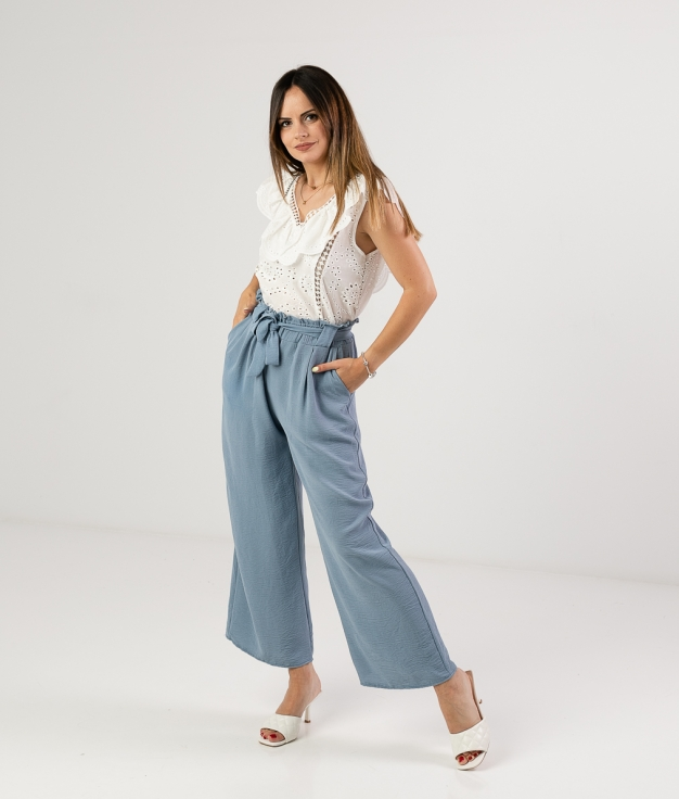 TROUSERS HOLESE - BLUE