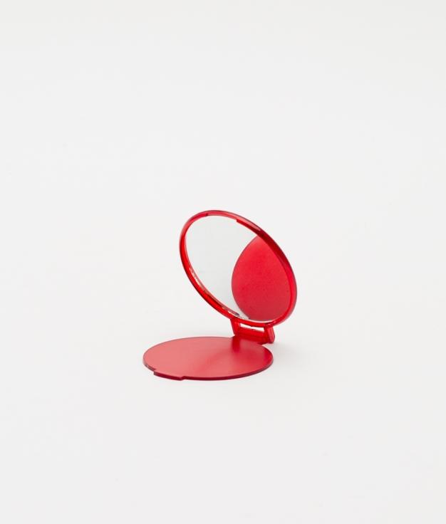 ESPEJO DE BOLSILLO GLAZE - RED