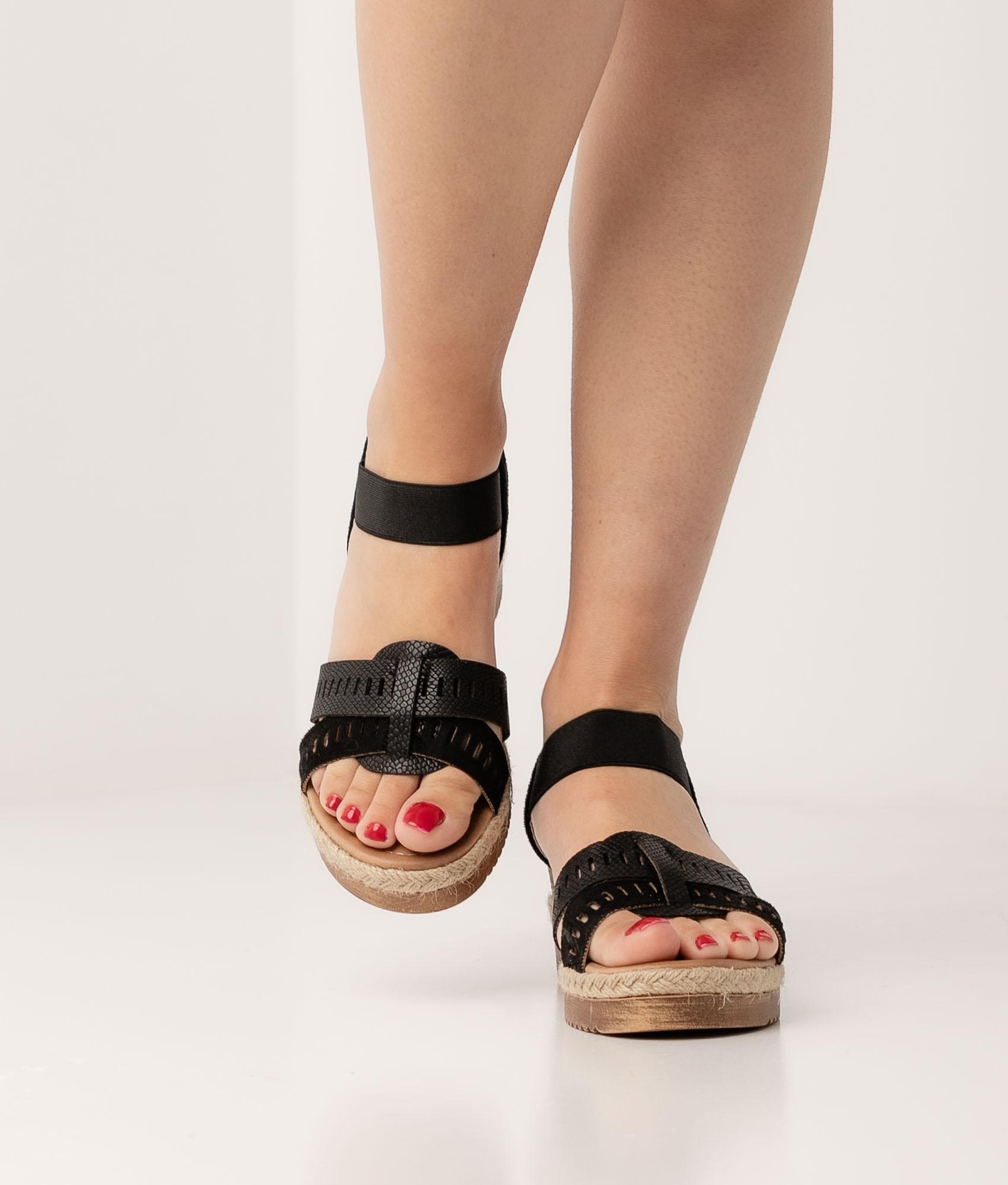 Wedge Heel Semper - Black