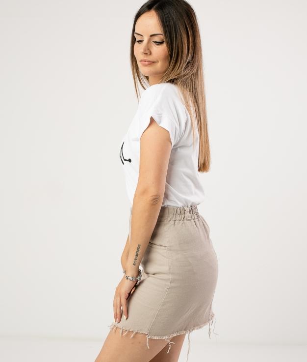 FALDA ZERINDA - BEIGE