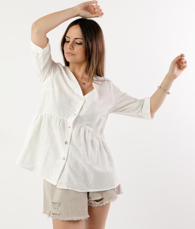 Blusa Marien - Bianco