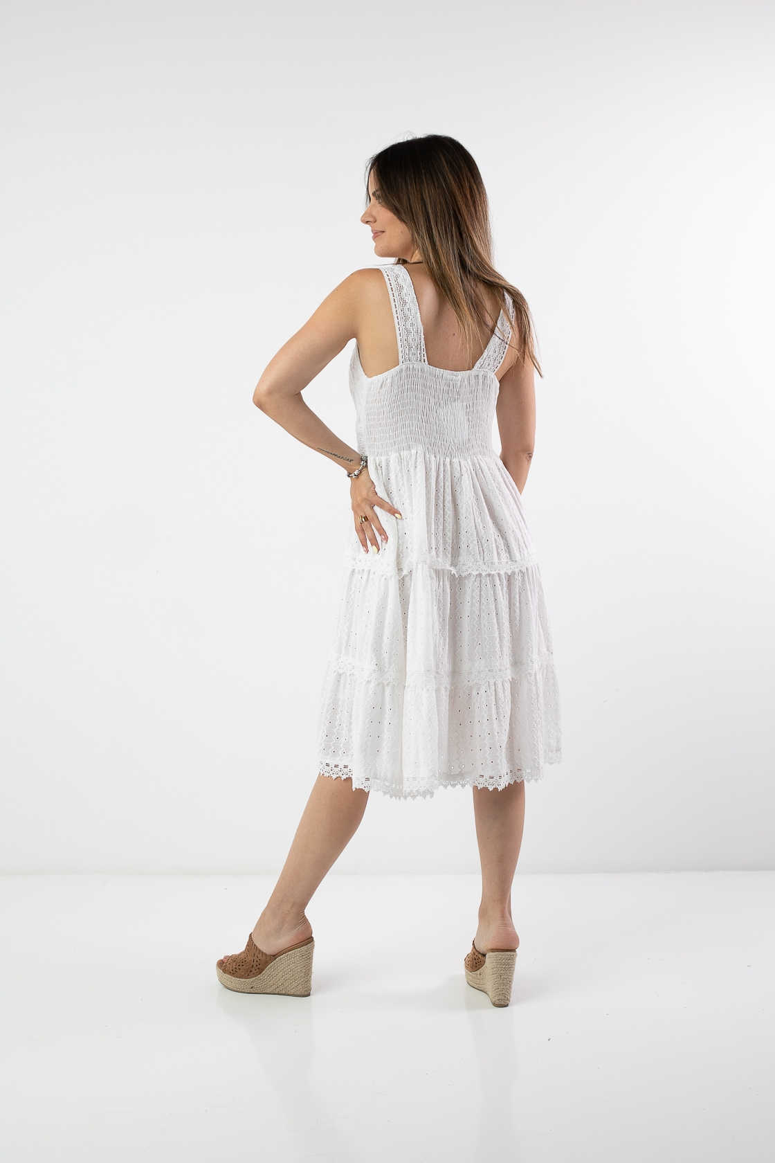 SATERI DRESS - WHITE