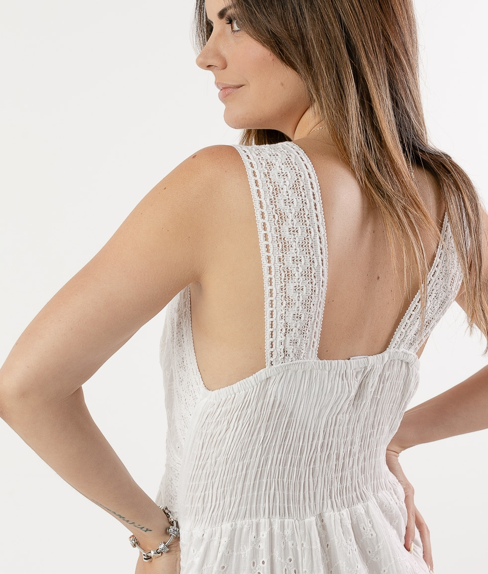 LACABE DRESS - WHITE