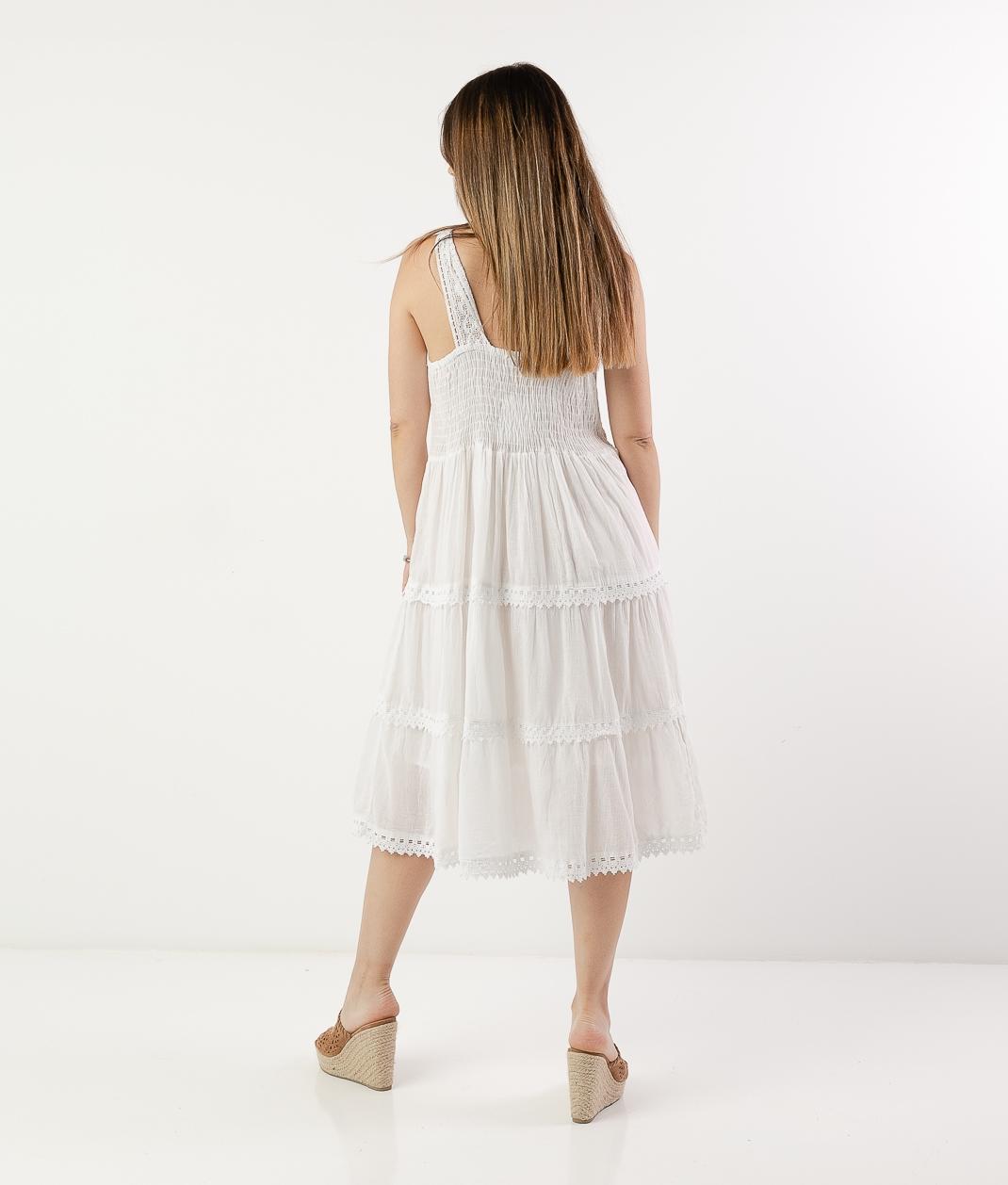 EINAR DRESS - WHITE