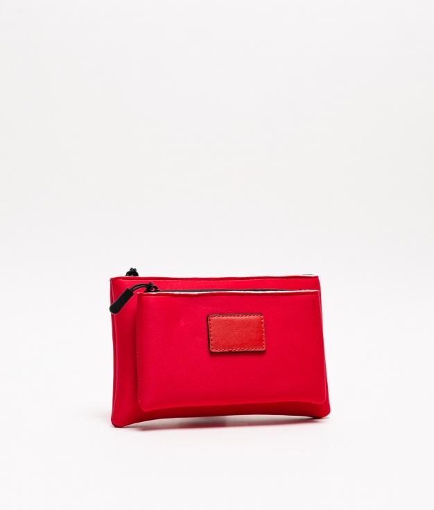 neoprene purse - red