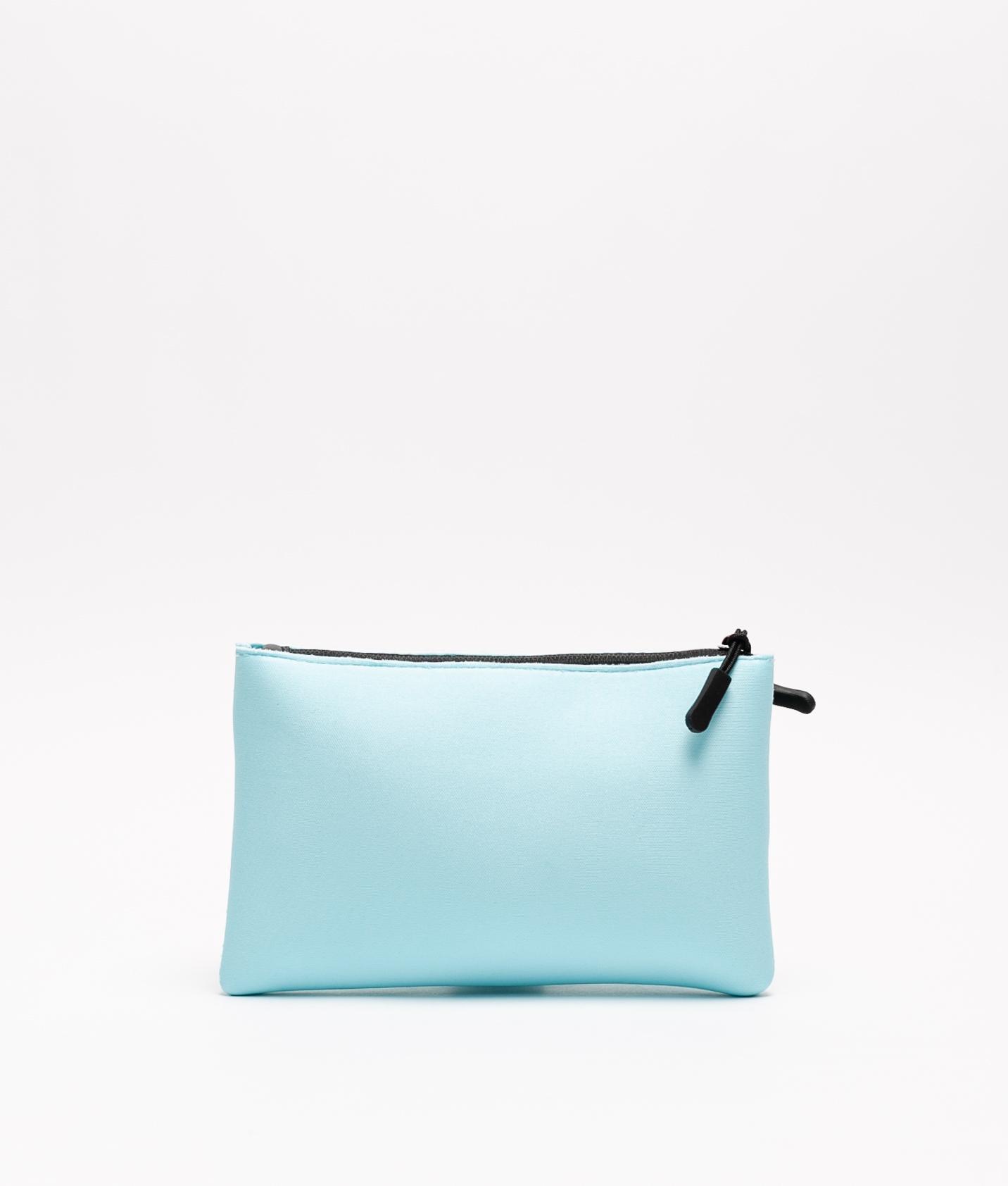 neoprene purse - light blue