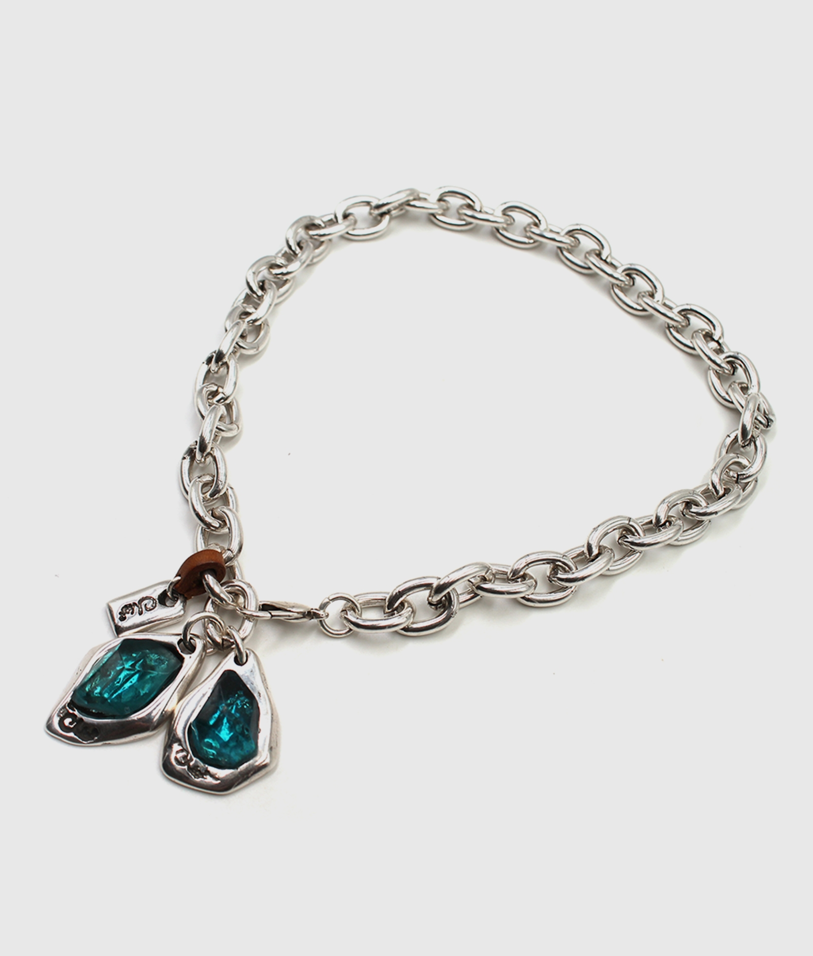 ZULU silver and blue necklace