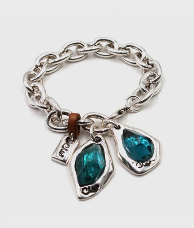 ZULU pulsera plata y azul