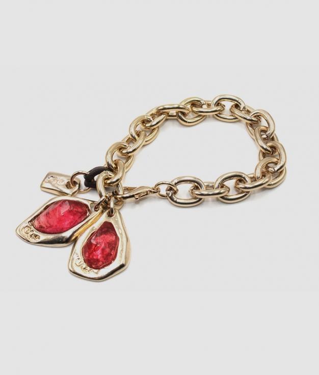 Bracelet ZULU or et fuchsia
