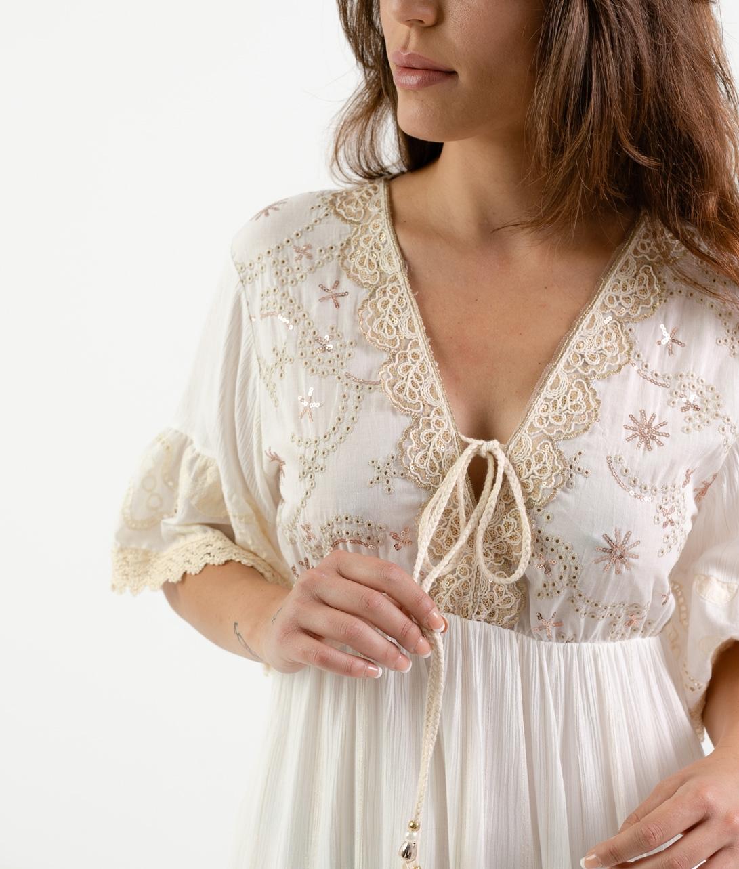 RATESA DRESS - WHITE