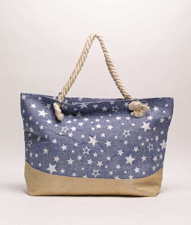 GIENNAH BEACH BAG - NAVY BLUE