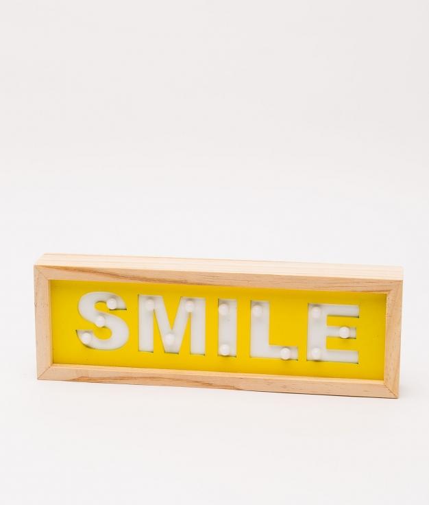 CARTEL SMILE LED - JAUNE