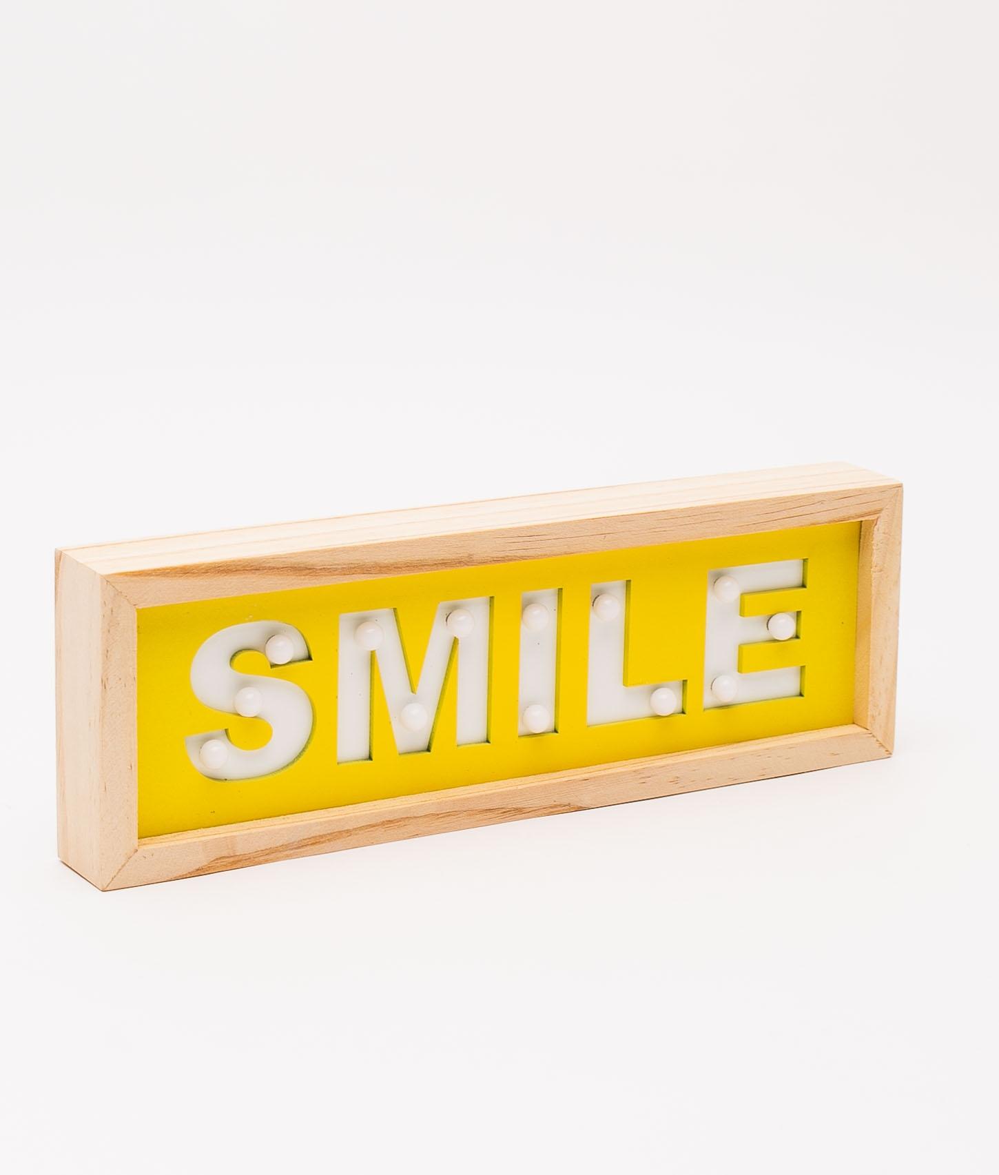 CARTEL SMILE LED - YELLOW
