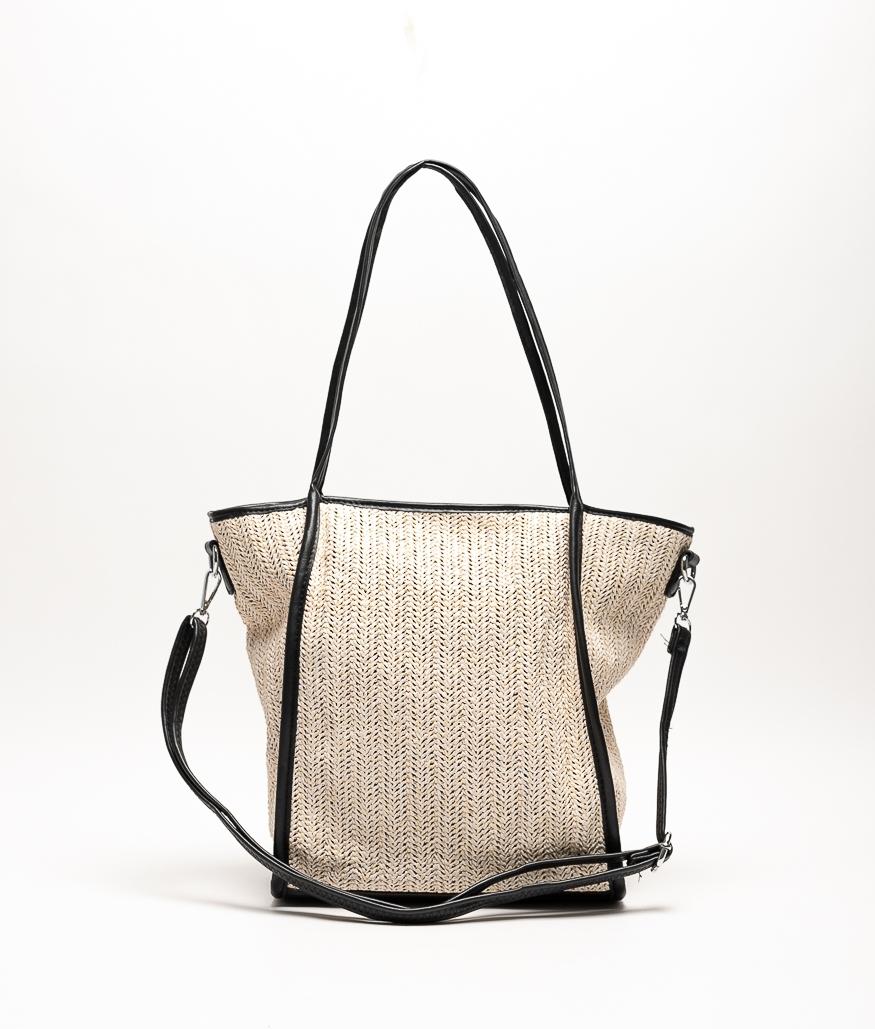 JARI SHOULDER BAG - BEIGE/BLACK
