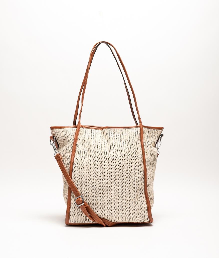 JARI SHOULDER BAG - BEIGE/BROWN