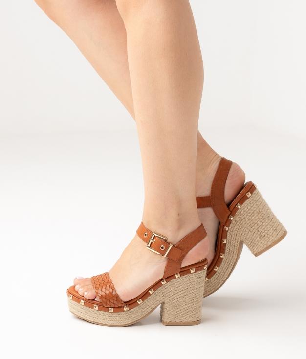 Sandália de Salto Tiku - Camelo