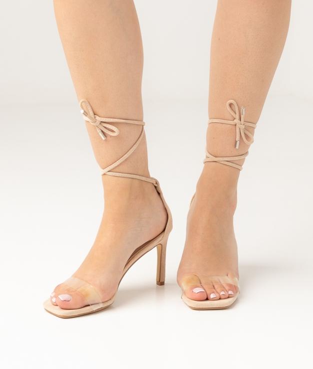 Sandalia de Tacón Nilo - Beige