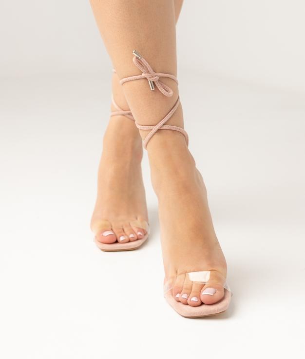 Sandália de Salto Nilo - Rosa