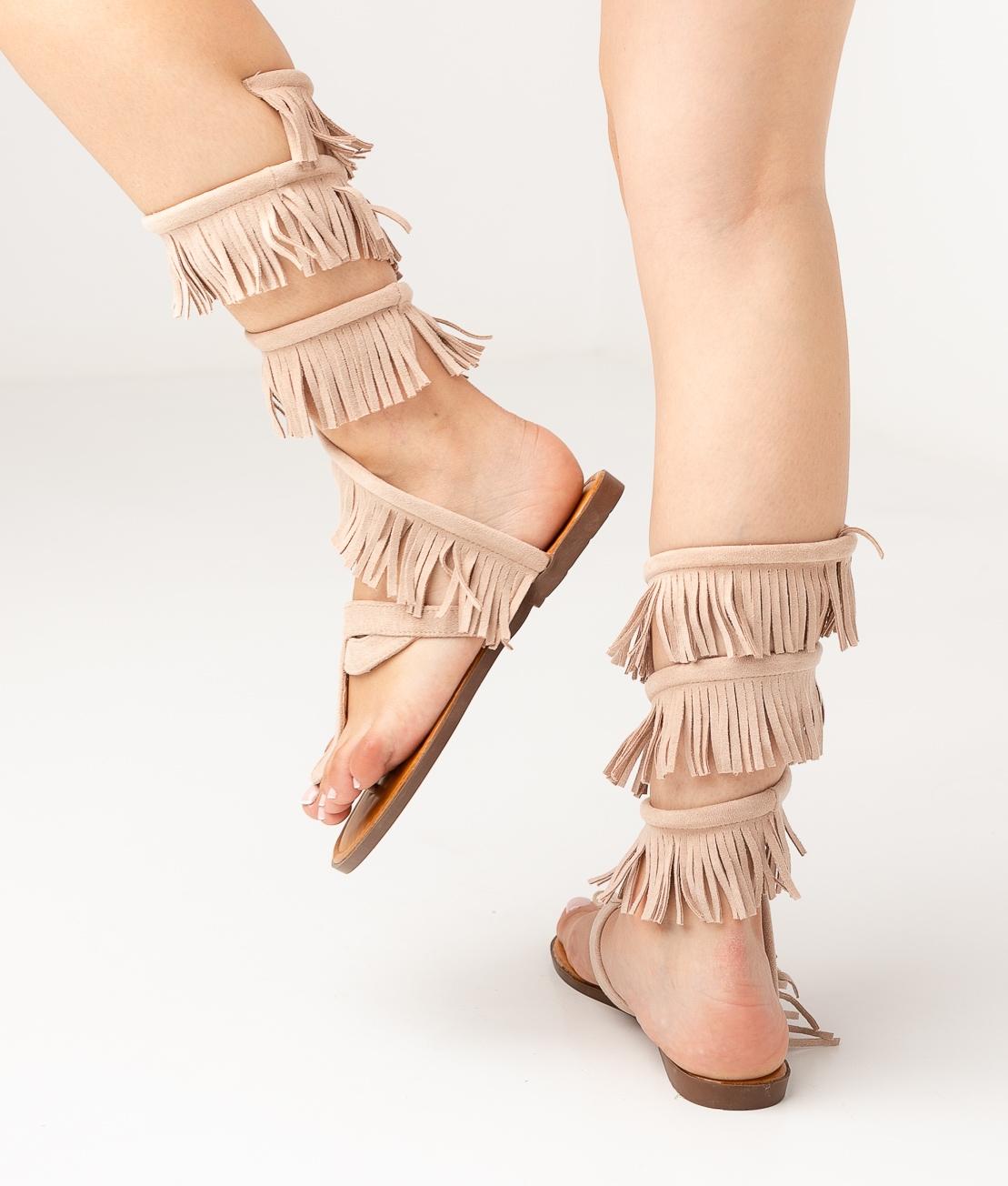 sandale plate Flecsi - Beige