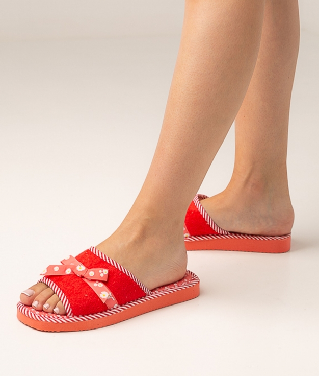 LEANA SLIPPERS - RED