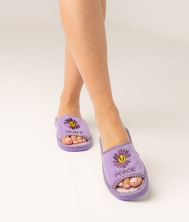 MARGE SLIPPERS - PURPLE