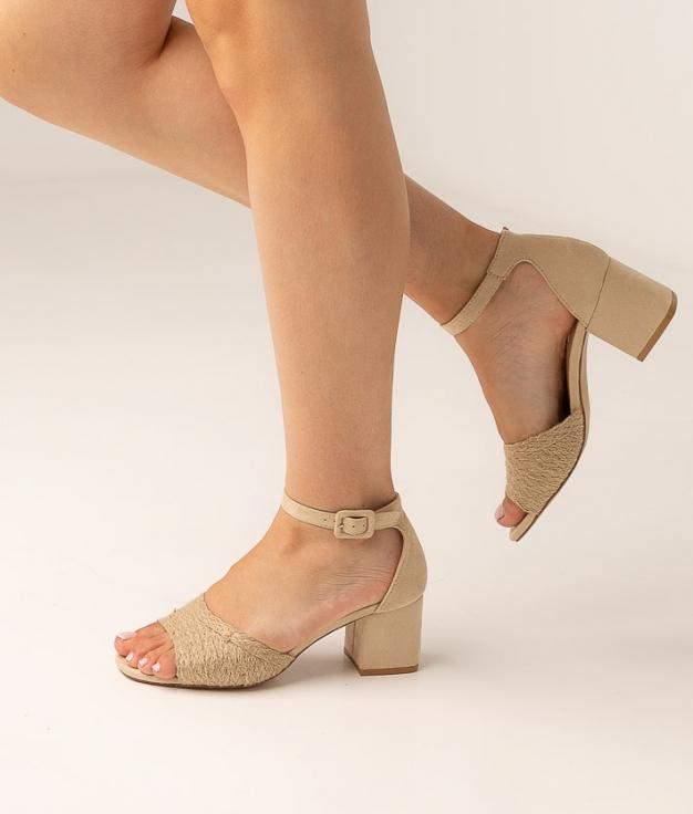 Sandalia de Tacón Evia - Beige