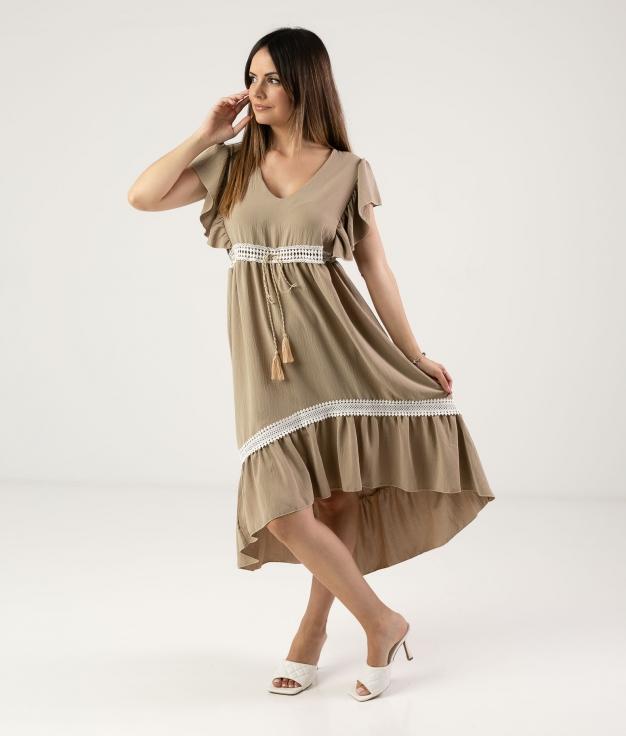 DRESS SINCHI - BEIGE