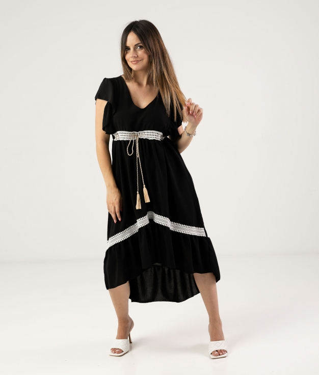 DRESS SINCHI - BLACK