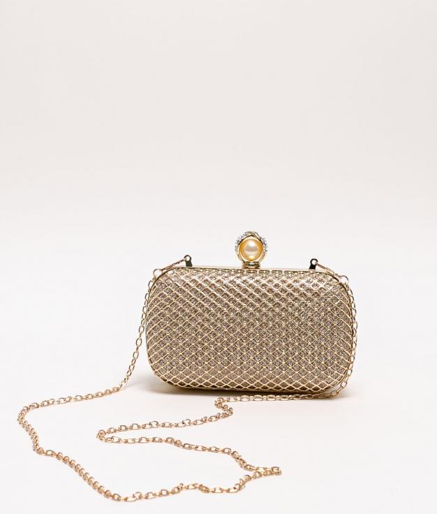 asuns handbag - gold