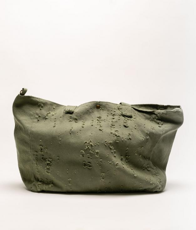 DENIM FABRIC BAG - GREEN