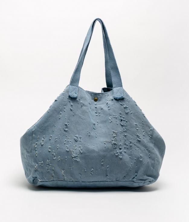 DENIM FABRIC BAG - BLUE