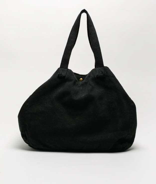 DENIM FABRIC BAG - BLACK